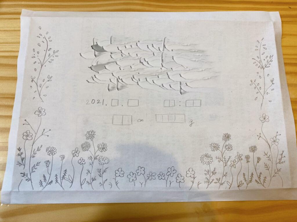 刺繍命名書の図案