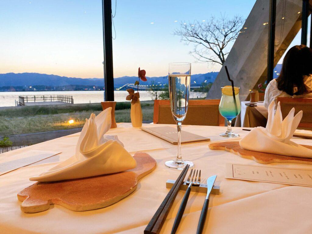 セトレマリーナびわ湖のレストランディナー