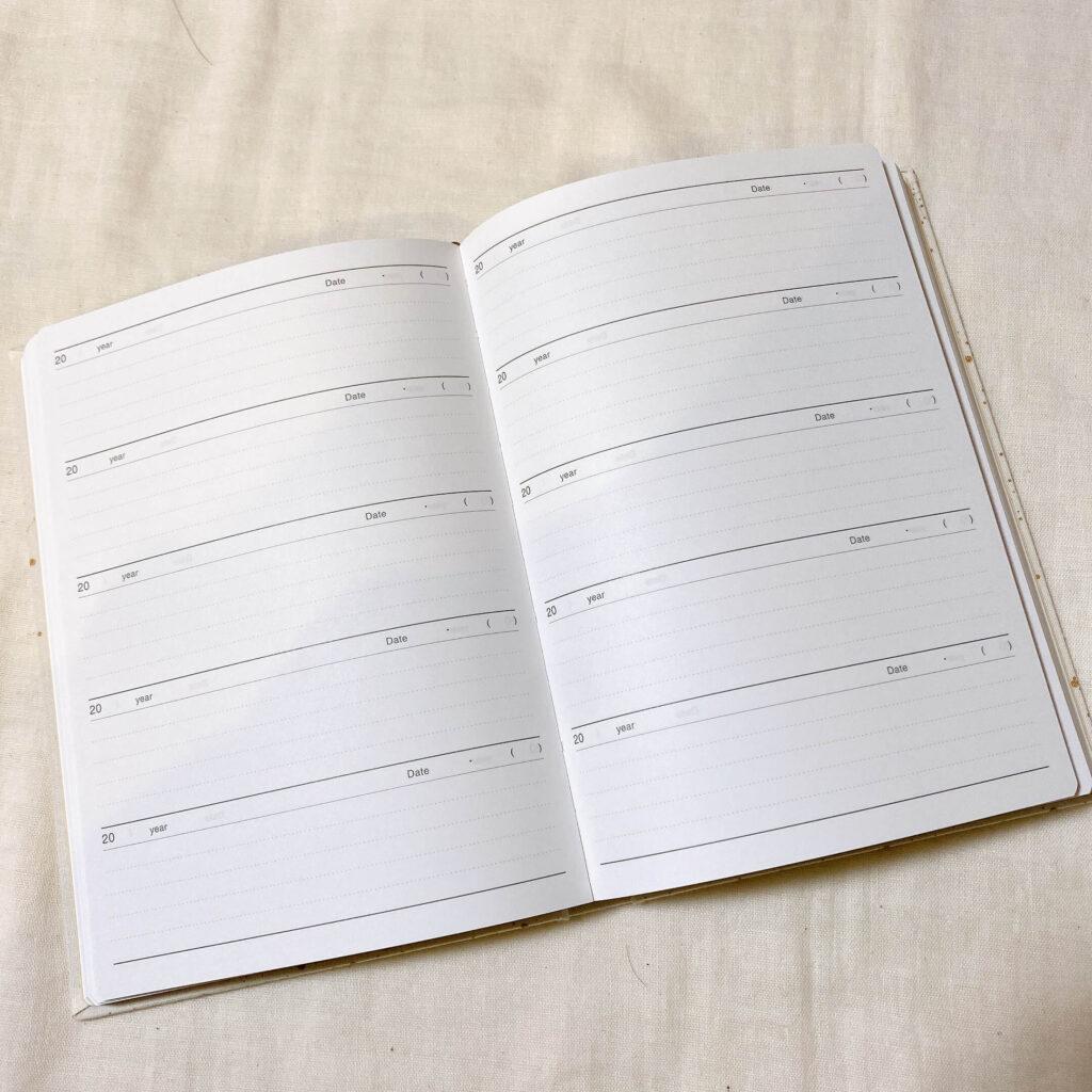 5年育児日記アーティミスの中身