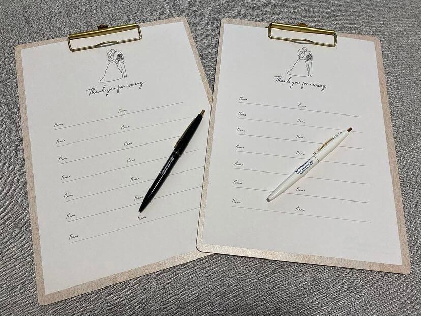 100均で結婚式の芳名帳を手作り