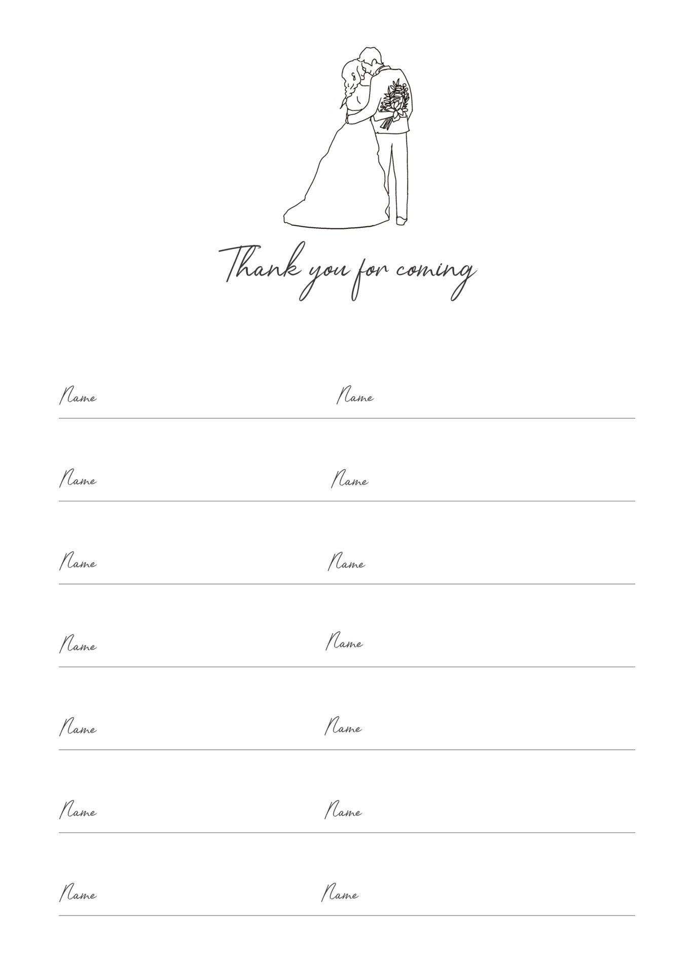 結婚式の芳名帳のデザイン