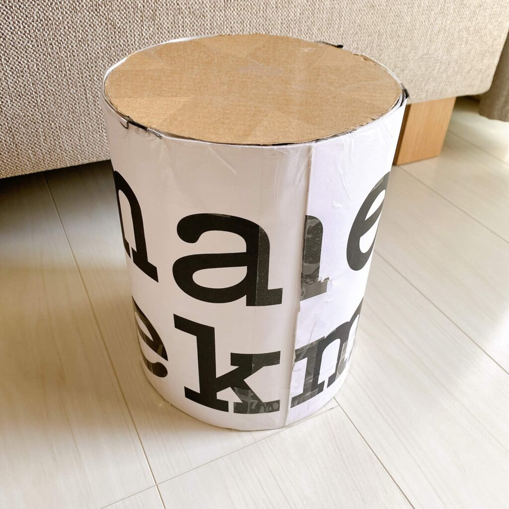 段ボールと厚紙と紙袋でクレイケーキの土台を作成