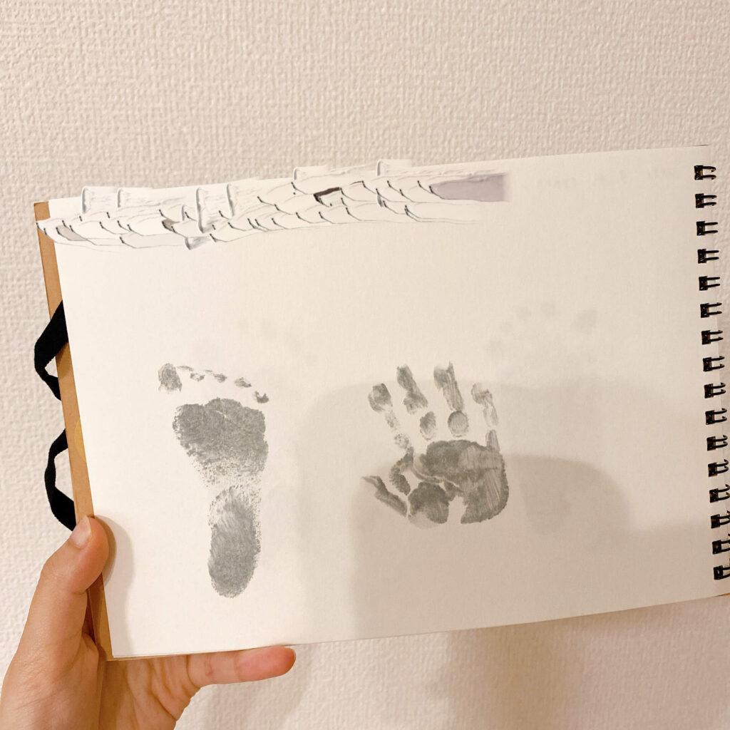 生後2ヶ月の赤ちゃん 記念の手足型
